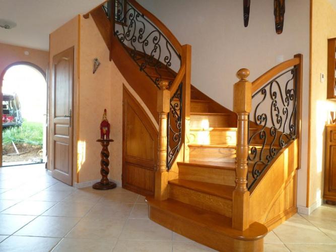 Autres styles d 39 escaliers s lection de travaux de menuiserie - Escalier fer et bois ...